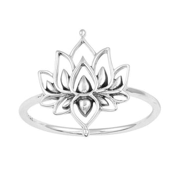 Dainty White Lotus Ring