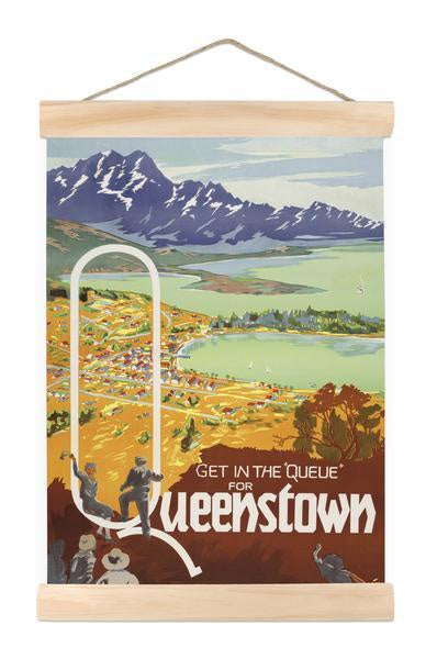 Queue for Queenstown - Mini Wall Chart