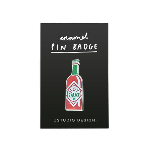 Hot Sauce Enamel Pin