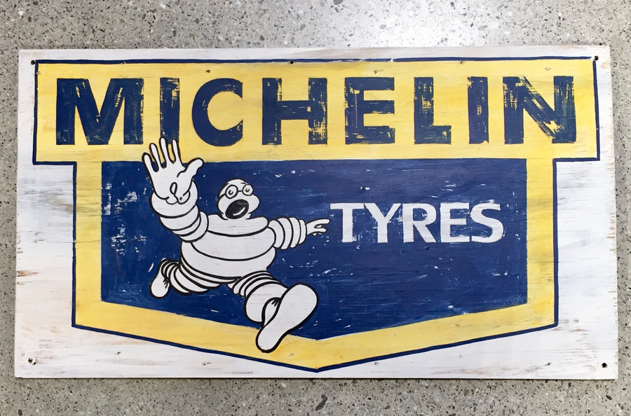 Hand Painted Sign - Michelin Man