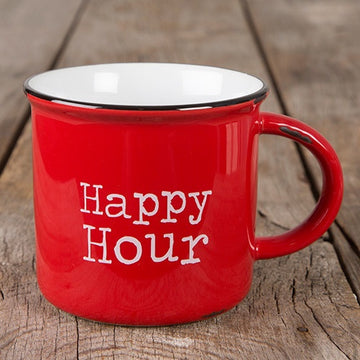 Ceramic Happy Hour Camping Mug
