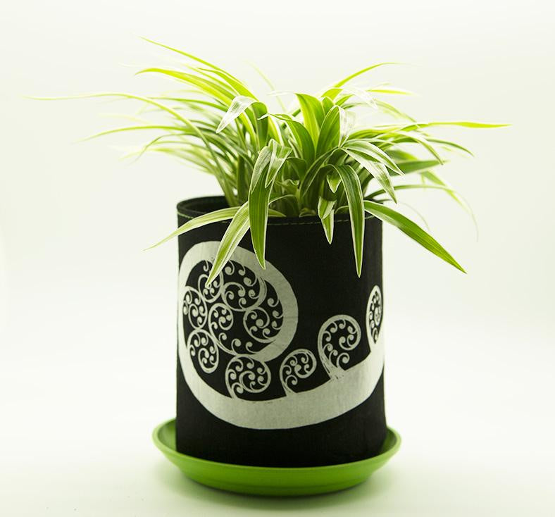 Ecofelt Grow Bag - Fern Frond / Black