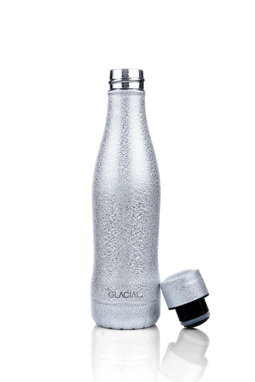 Glacial Bottle - Silver Glitter 400mm