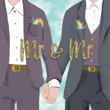 Card Mr and Mr Gold