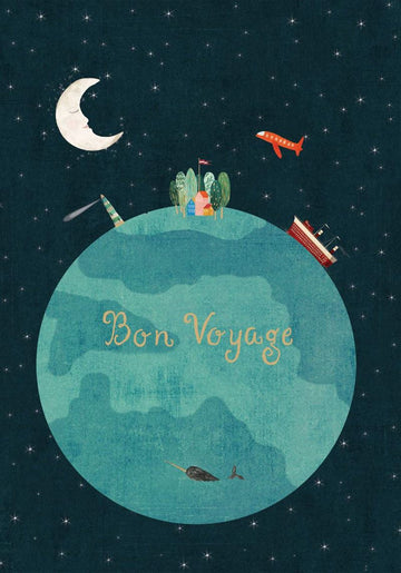 Bon Voyage World Travel - Leaving Card