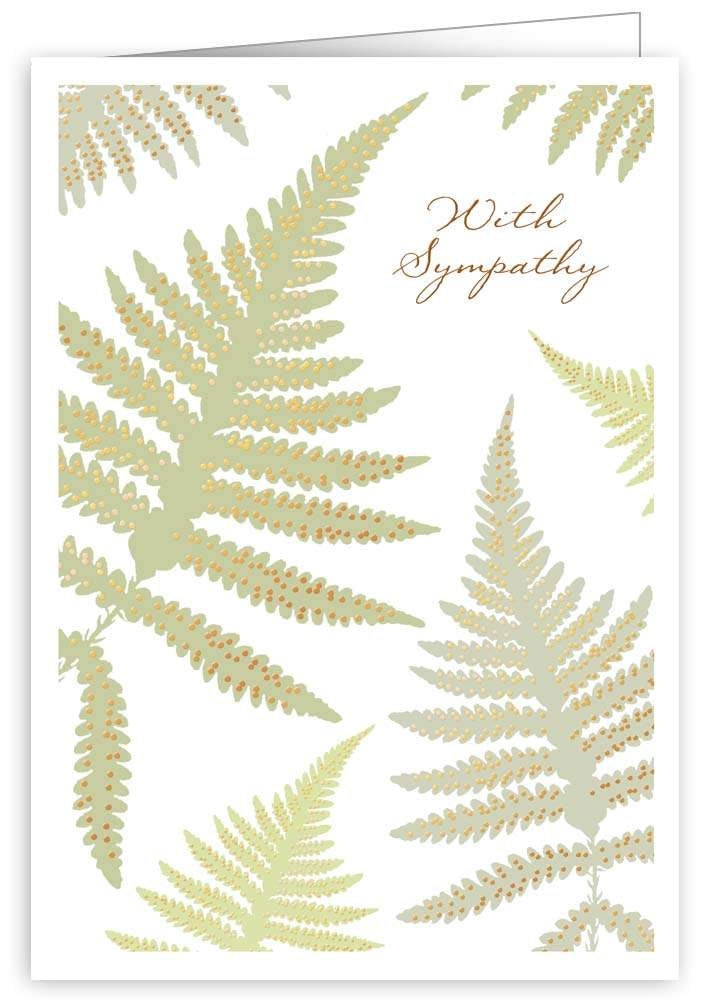 With Sympathy Ferns Card
