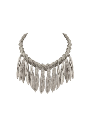 Silver Cedro Statement Necklace