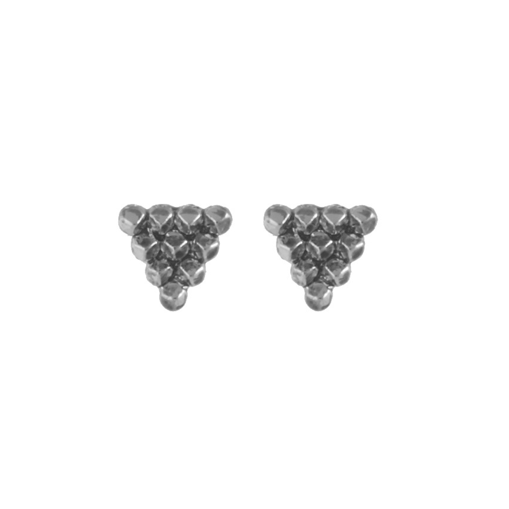 Silver Cerro Torre Pyramid Stud Earrings