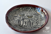 Load image into Gallery viewer, Kitty Dish, Craazy Catz Dark Red