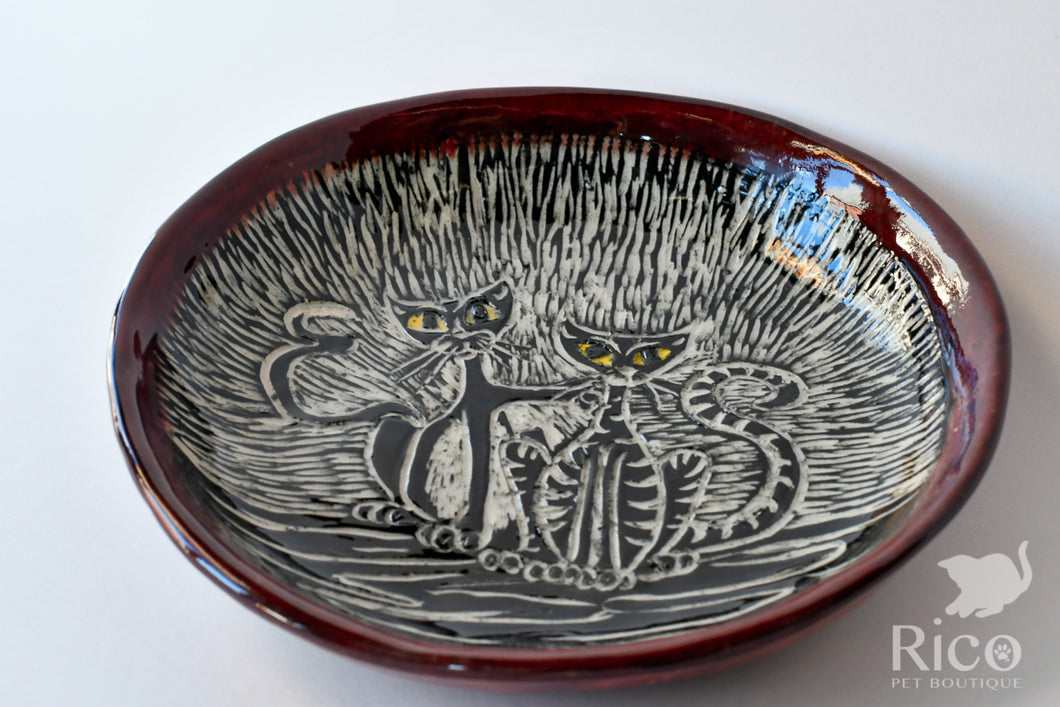 Kitty Dish, Craazy Catz Dark Red