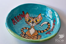 Load image into Gallery viewer, Kitty Dish, Craazy Catz Turquoise