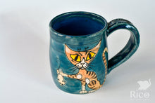 Load image into Gallery viewer, Kitty Mug, Dark Turquoise