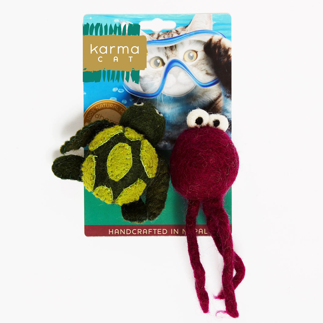 Cat Toys, Turtle & Jellyfish
