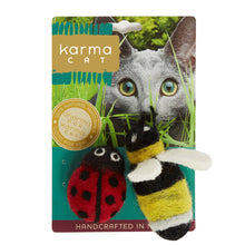 Load image into Gallery viewer, Cat Toys, Ladybug & Bee