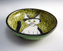 Load image into Gallery viewer, Tuxedo Cat Feeding Dish