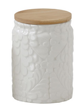 Embossed Floral Canister- Large