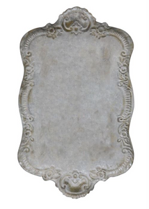 Distressed Ornate Metal Tray