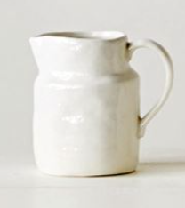 Classic White Pitcher- Small