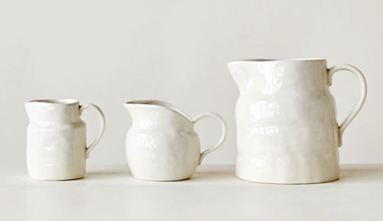 Classic White Pitcher- Large