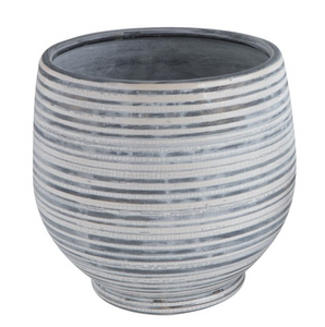 Striped Planter- LARGE