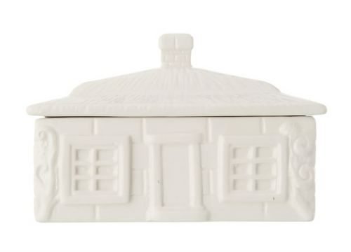 Vintage Inspired House Butter Dish