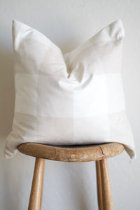 CHECKED- Tan - 20 x 20 pillow cover