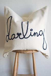 DARLING- 26 X 26 - Pillow Cover