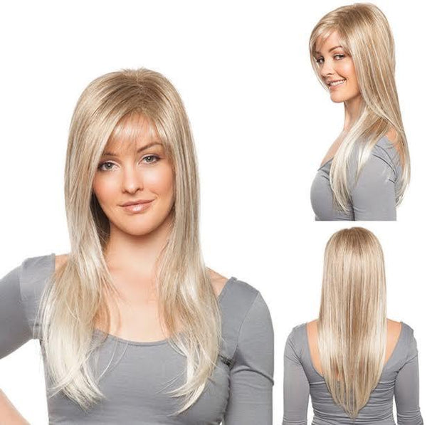 Long Blonde with Bangs Wig