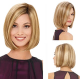 Short Blonde with Highlights Wig