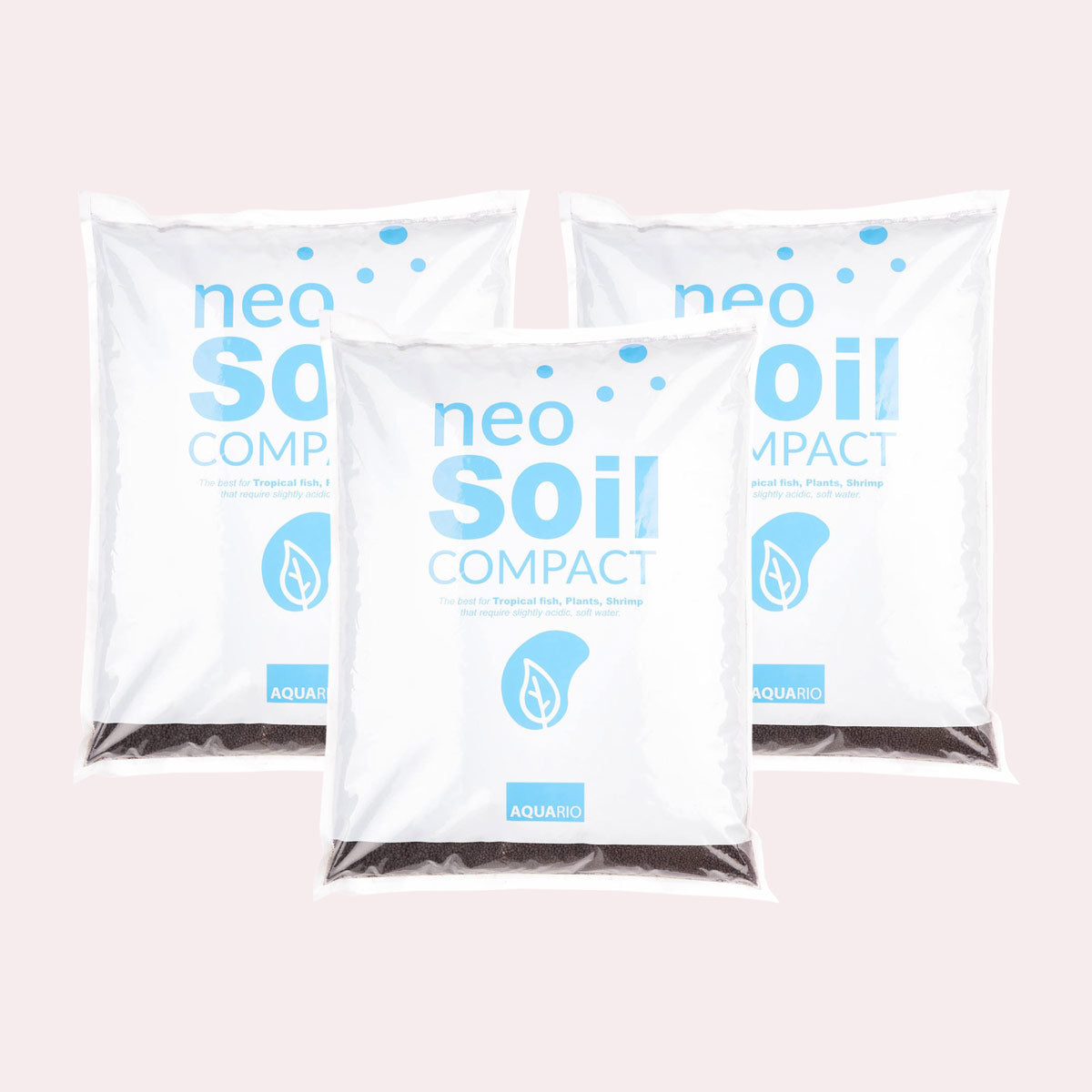 Shop Aquario Neo Soil - 3 Pack 8 Liter Substrate - Glass Aqua