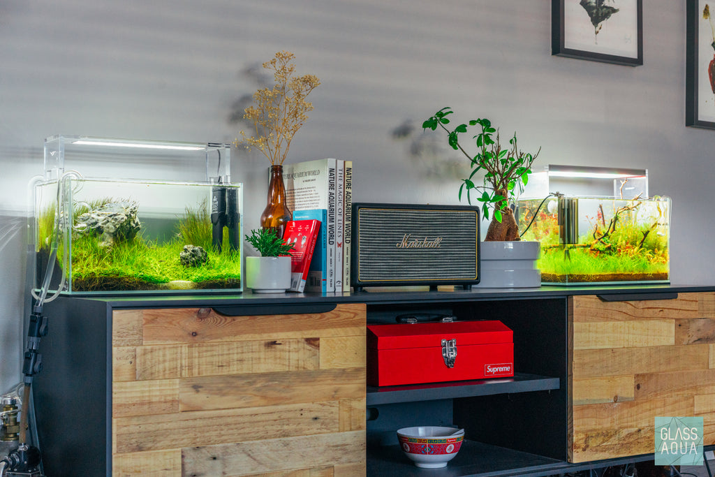 UNS Rimless Nano Glass Aquarium Tank