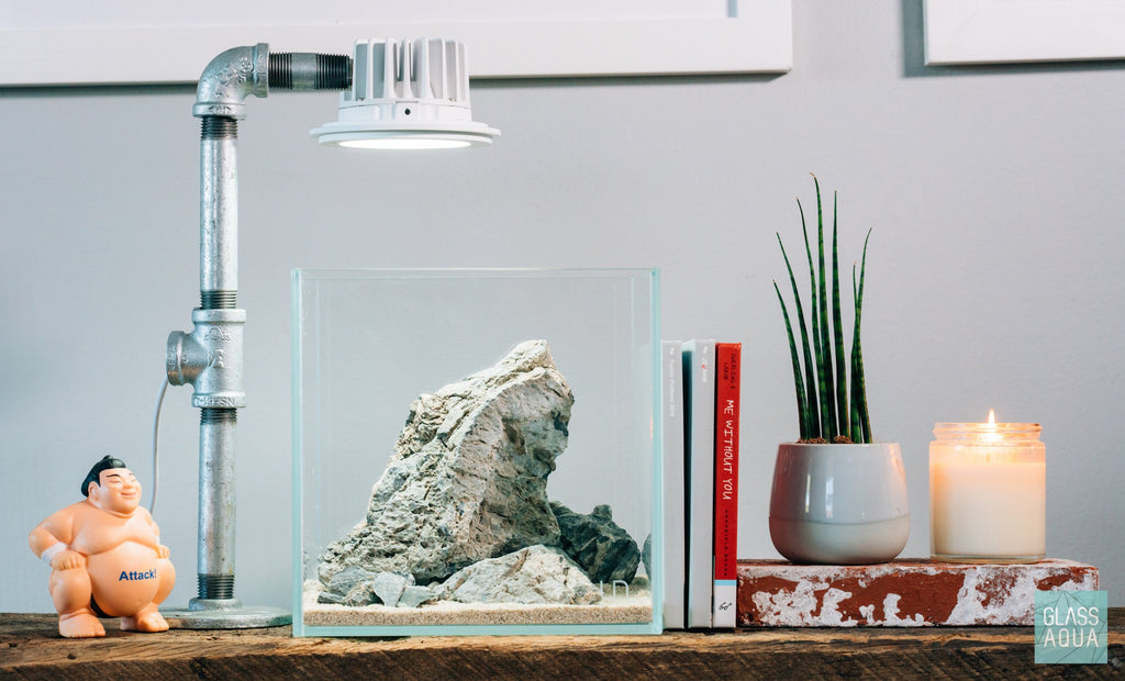 Shop UNS Rimless Cube Glass Aquarium Tank Aquarium Tanks - Glass Aqua