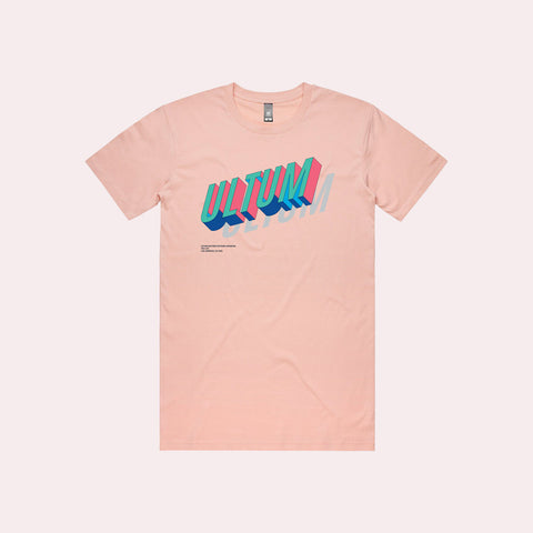 Shop Glass Aqua - Ultum Nature Systems UNS Logo Tee - Pale Pink