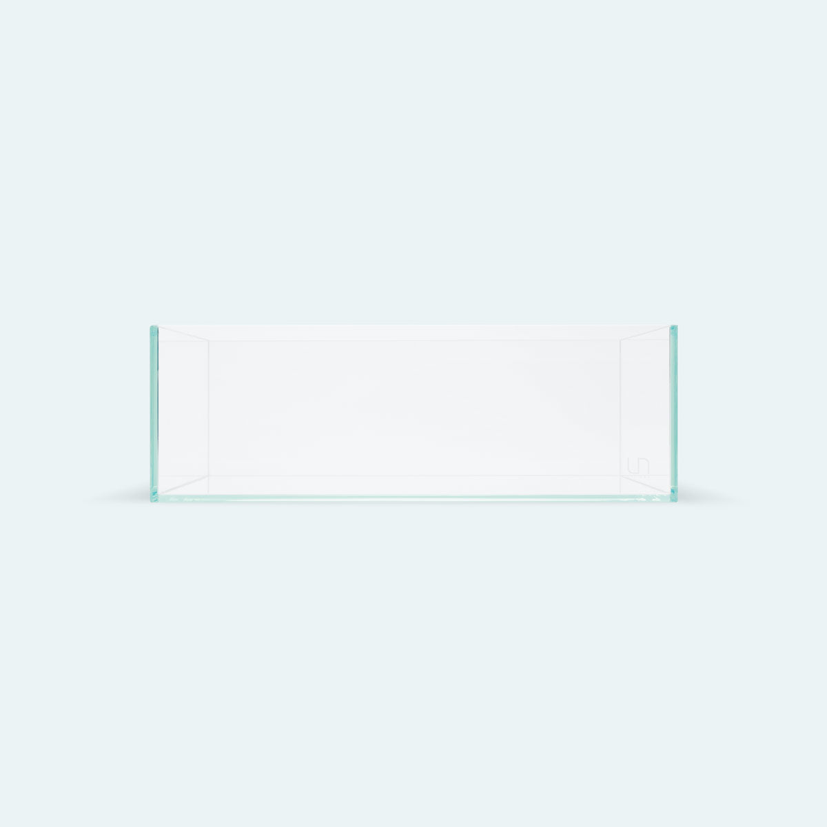 UNS Rimless Shallow Glass Aquarium Tank - Glass Aqua