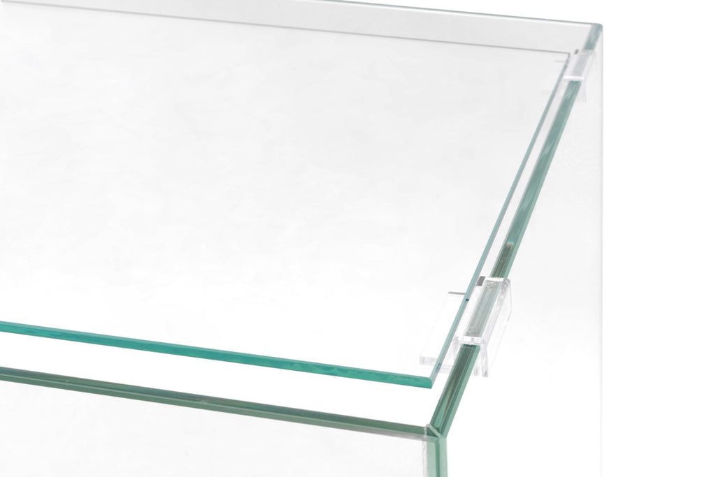 UNS Standard Tank Glass Lid With Clear Clips - Glass Aqua