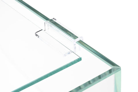 UNS Cube Tank Glass Lid With Clear Clips - Glass Aqua