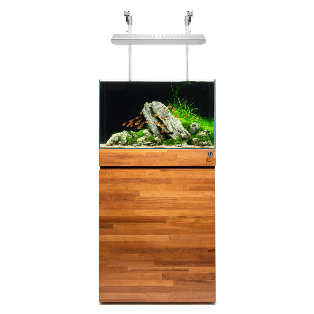 Shop Ultum Nature Systems Aquarium Tank Stand - Natural Wood Grain Aquarium Tank Stand - Glass Aqua