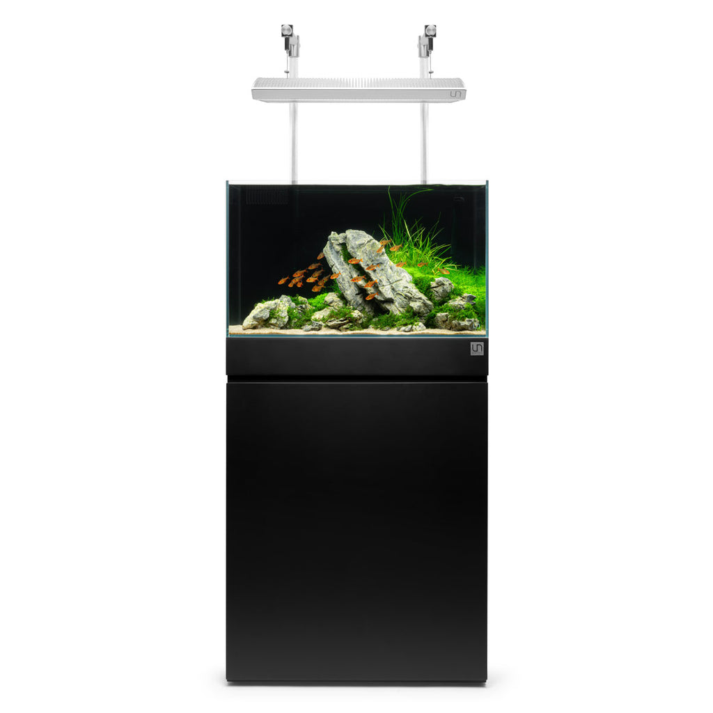 Shop Ultum Nature Systems Aquarium Tank Stand - Jet Black Aquarium Tank Stand - Glass Aqua