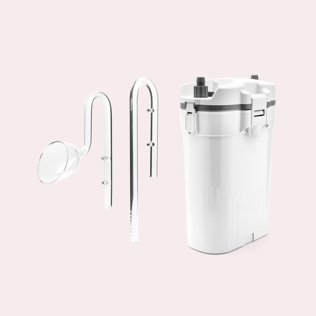 Shop UNS Delta 60 Canister Filter and Glass Lily Pipe Bundle Bundles and Kits - Glass Aqua