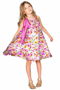 In Love Melody Cute Chiffon Pink Dress - Girls