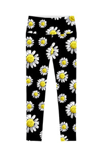 Oopsy Daisy Lucy Black Floral Performance Leggings