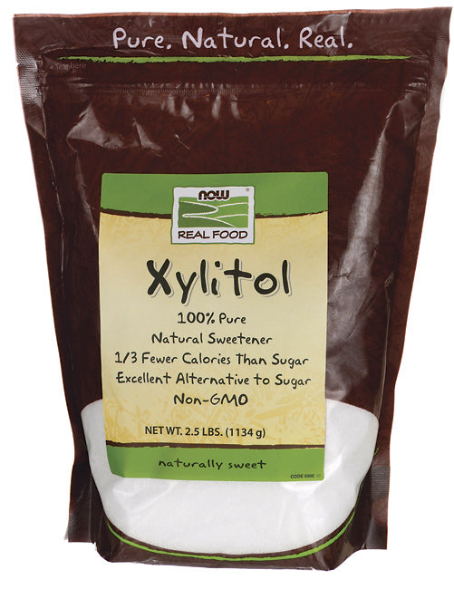 Xylitol 100% Pure NOW Foods 2.5 lbs.  Natural Sweetener