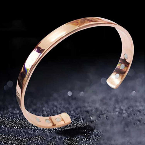 Bracelet Healthy Pure Copper Magnetic Smooth Mosaic Magnet Simple Magnetic Therapy Couples  Various Colors Fashion Match
