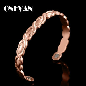 Adjustable Magnetic Copper Bracelet Healing Bio Therapy Arthritis Pain Relief Bangle Cuff Magnetic Therapy Bracelet for Women