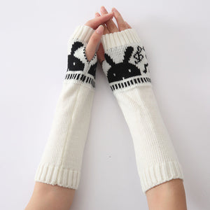 2016 Fashion Gloves Warm Autumn Winter Jacket Special Knitted Arm Sleeve Fingerless Gloves Soft Warm Mitten #LYW
