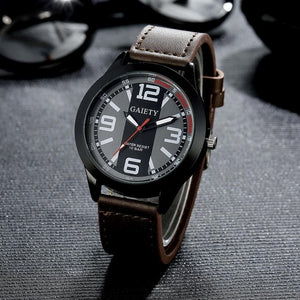 2017 Luxury Brand Watch Men Military Watches Men's Quartz-watch PU Leather Hour Clock Male Wrist Watch Relogio Masculino #53