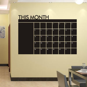 Super Deal 2015 home decor wall sticker wall decals Month Plan Calendar Chalkboard Vinyl Wall decoration vinilos paredes HYM02
