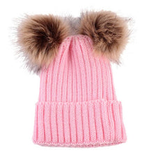 Women Fashion Keep Warm Winter Hats Knitted Wool Hemming Winter Hats For Girls Adjustable pompon mink hats