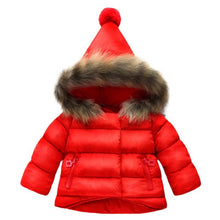 Baby Girls Boys Winter Jacket Kids Warm Outerwear Plus cotton Jacket Fashion Winter Coat Children's Clothing Hoodies with Ball