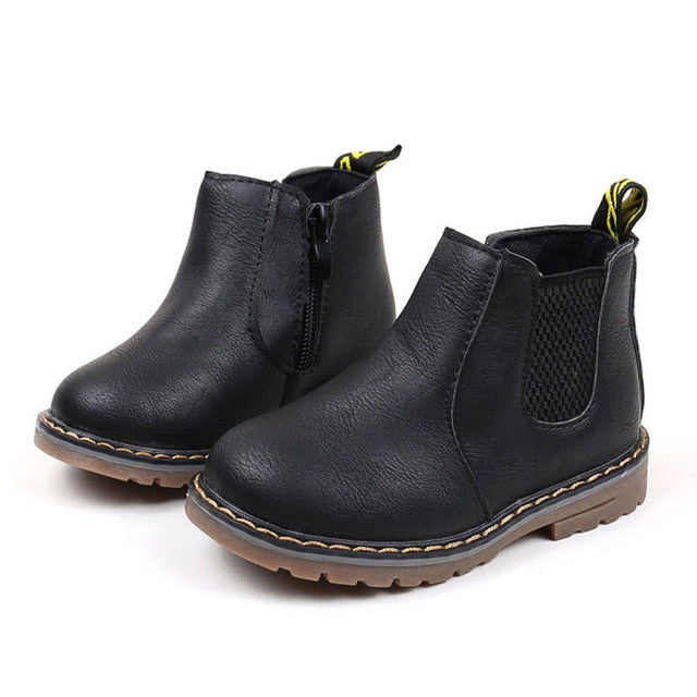 2017 Boys Girls Boots Kids Shoes Sneakers Winter Children Boys Girls Martin Boots Handmade Leather Boots Baby Boys Girls Shoes